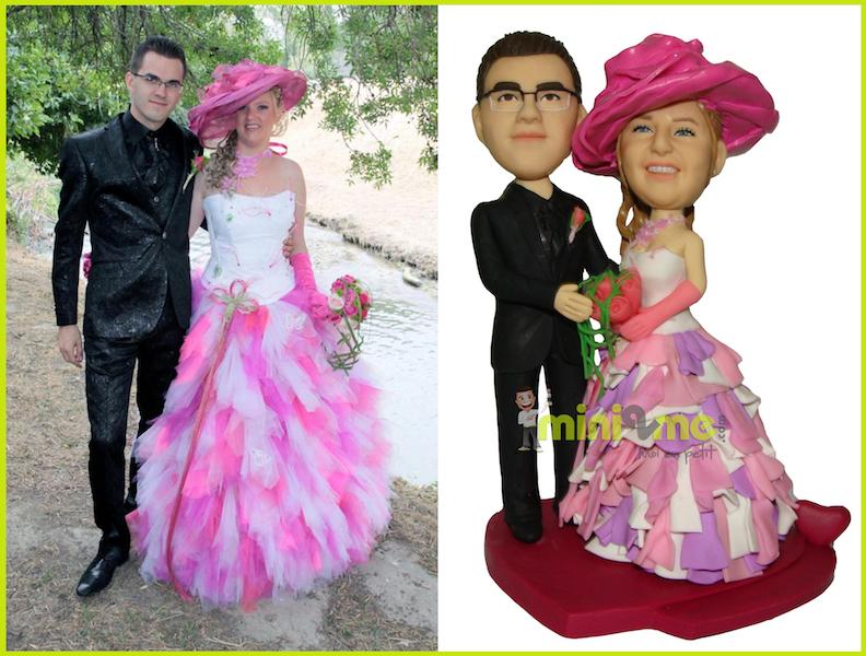 Full custom wedding cake topper bobblehead
