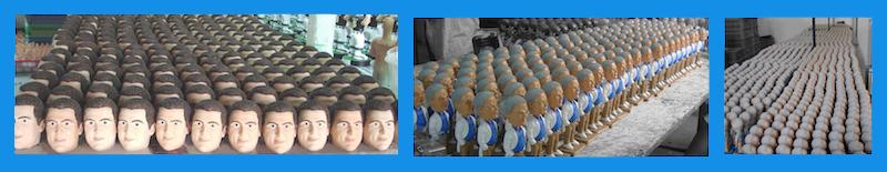 Figurines personnalisées en série