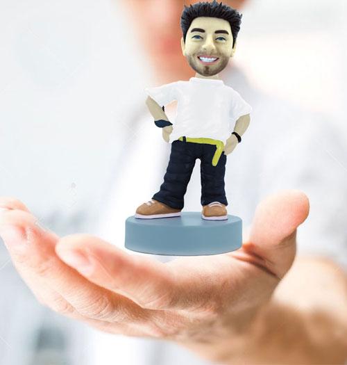 Figurines faites main à partir de vos photos